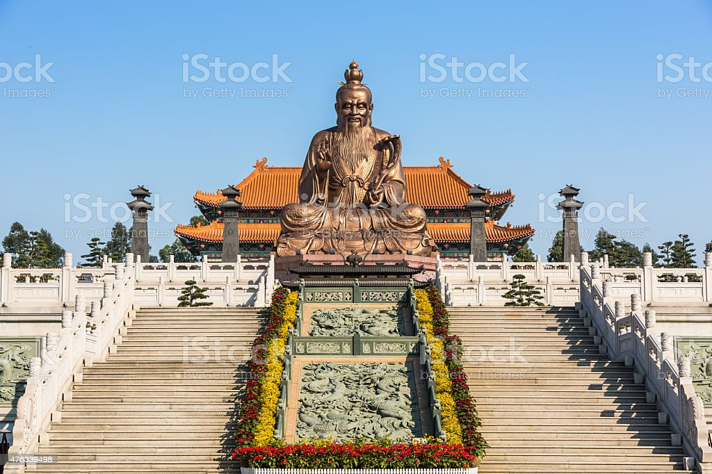 Laozi statue stock photo
