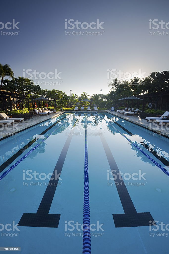 Lap Pool stock photo
