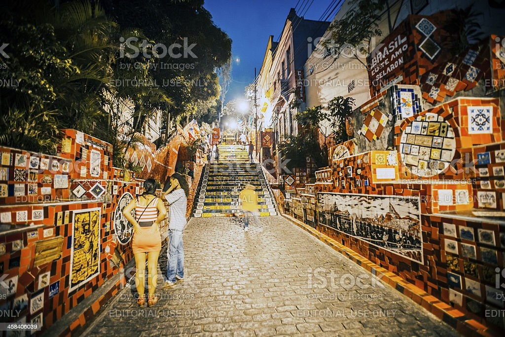 Lapa Stairs. royalty-free stock photo