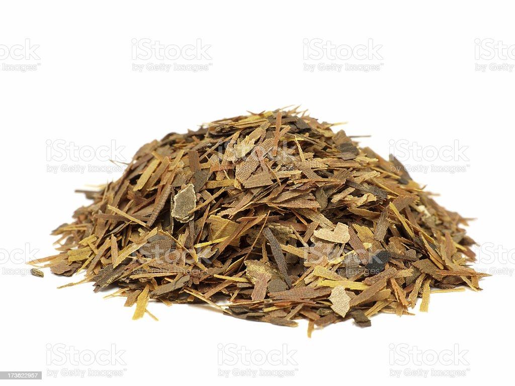 Lapacho tea isolated on white royalty-free stock photo
