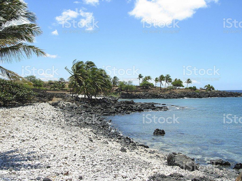 Lapakahi Beach - Big Island, Hawaii stock photo