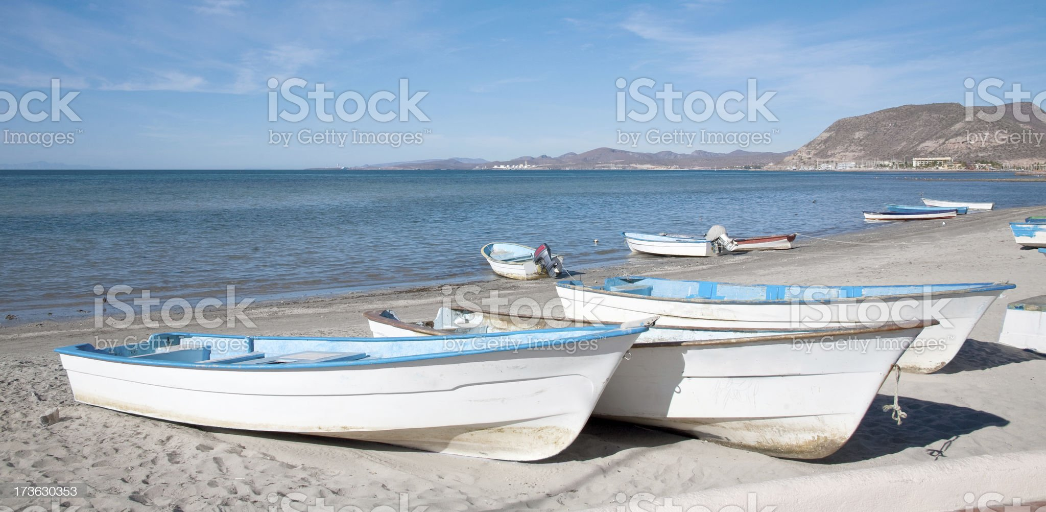 Lapaz BCS Fishing boats royalty-free stock photo