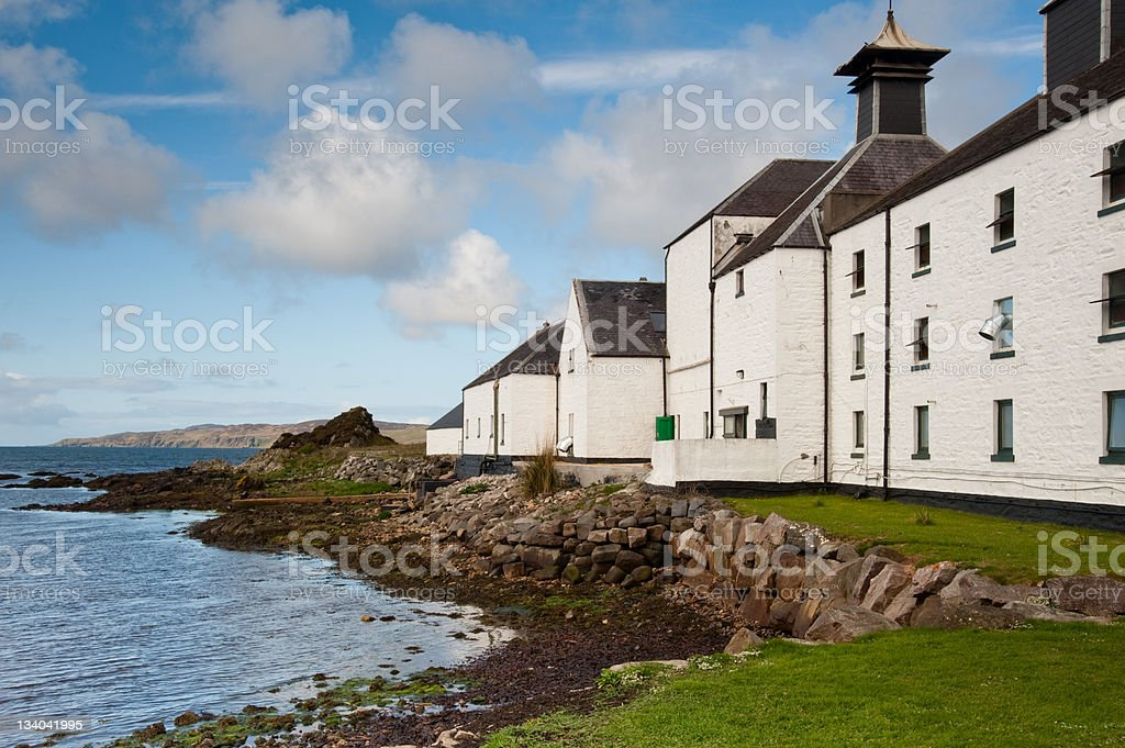 Laphroaig bay stock photo