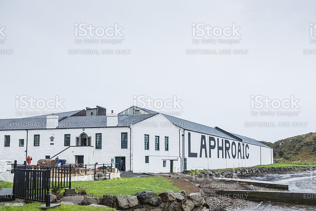 Laphroaig Distillery stock photo