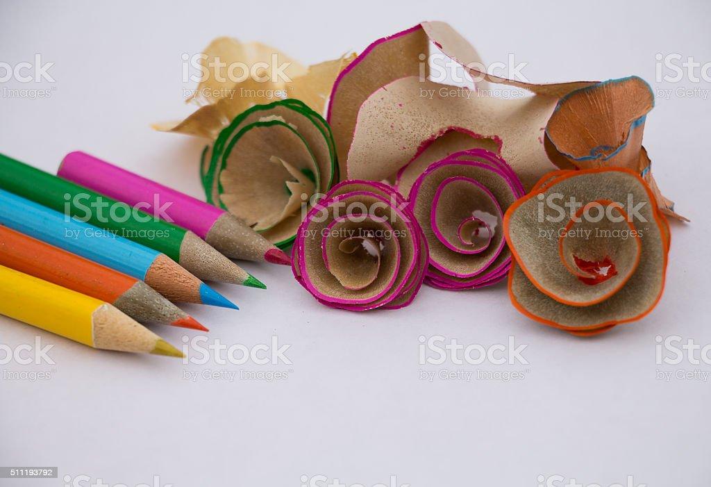 lapices de colores stock photo