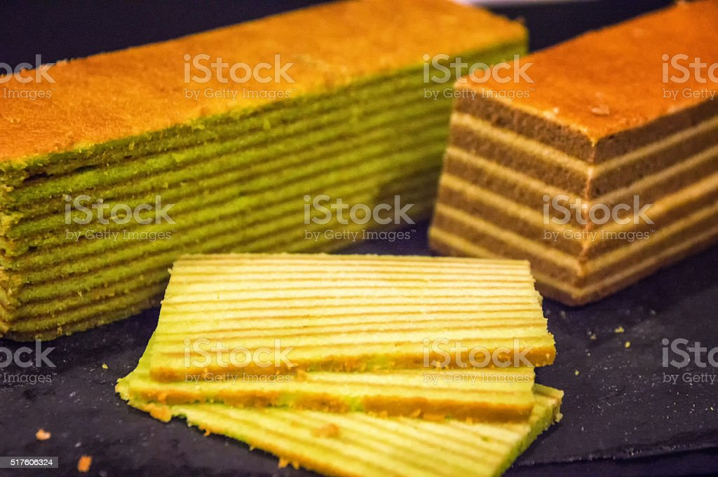 Lapis layer cake stock photo