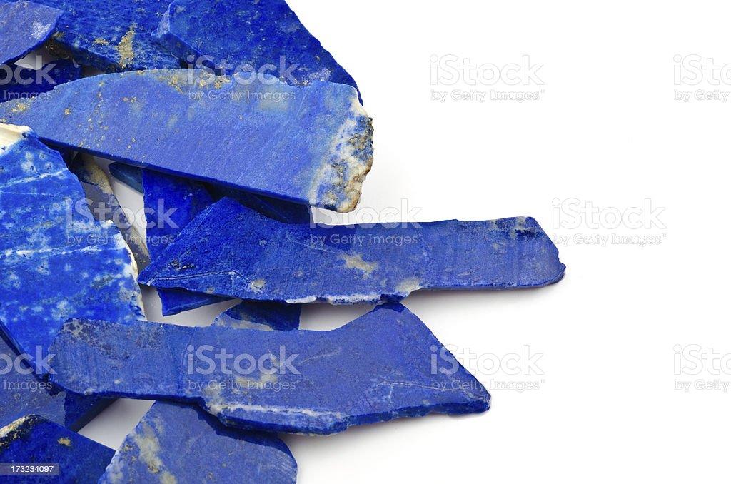 Lapiz Lazuli - half precious stone. guaranteed authentic stock photo