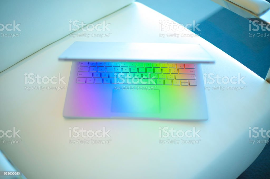 Laptop Abstract Business Background stock photo