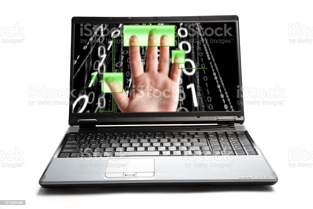 laptop - access granted royalty-free stock photo