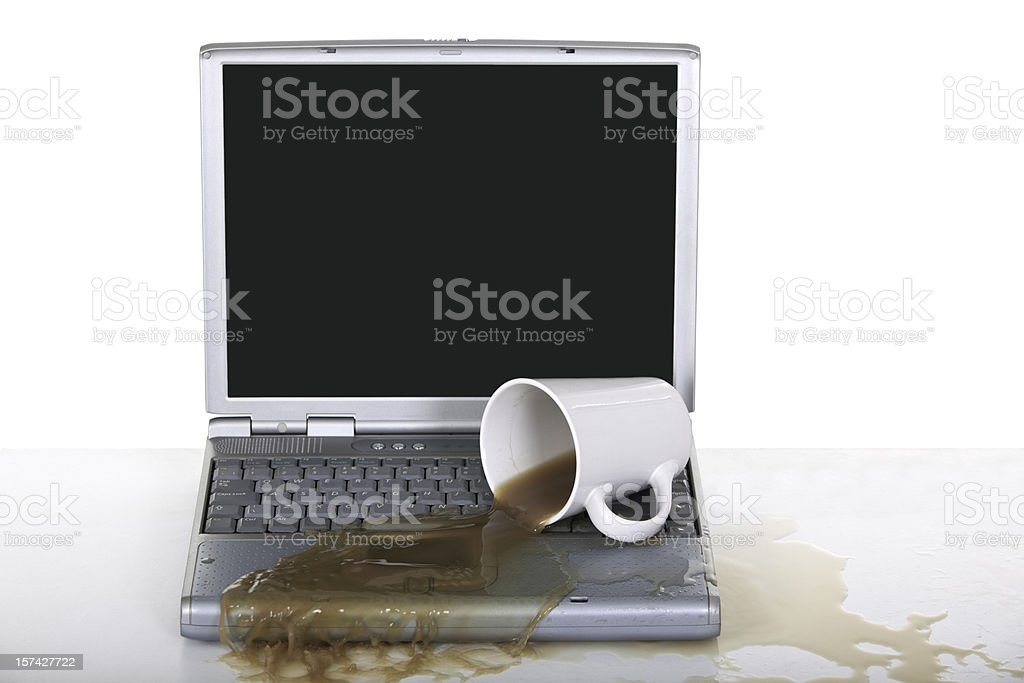 Laptop Accident royalty-free stock photo