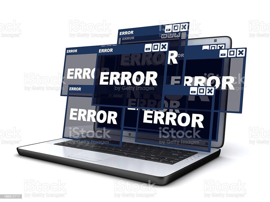 Laptop and error stock photo