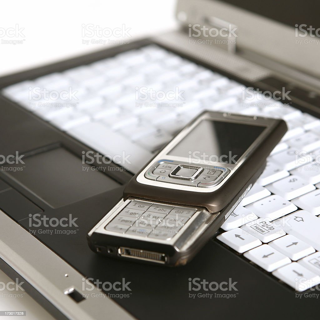 laptop and mobile phone series royalty-free stock photo