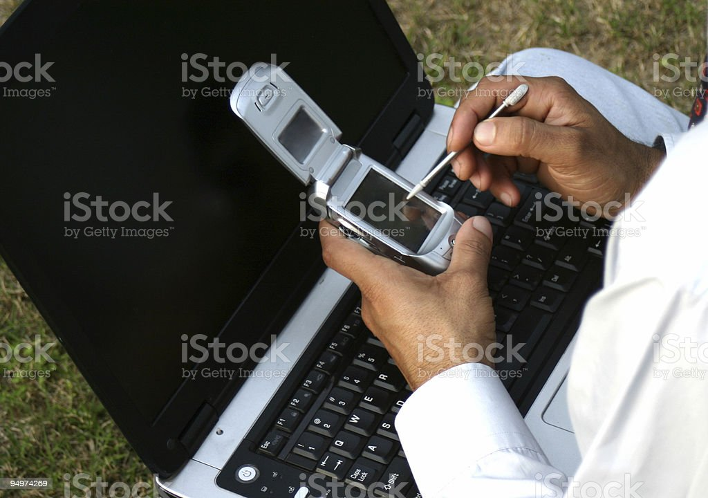 laptop and mobile royalty-free stock photo