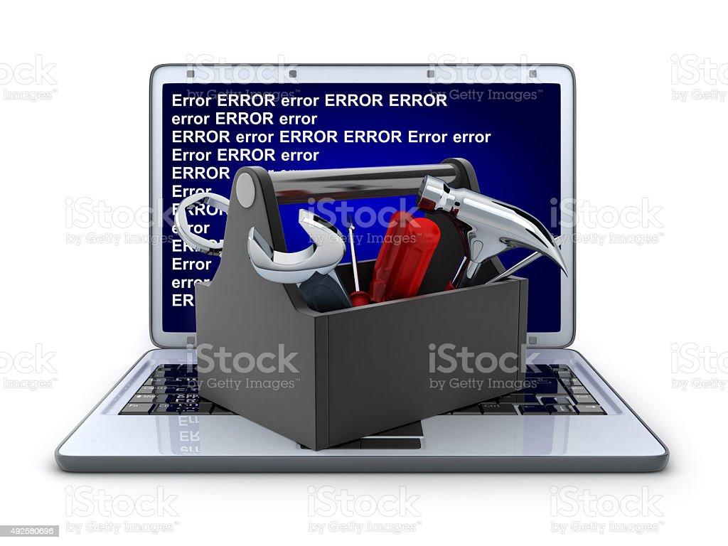 laptop and repair stock photo