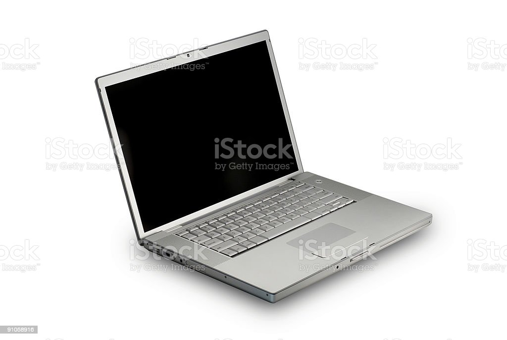 laptop angle royalty-free stock photo