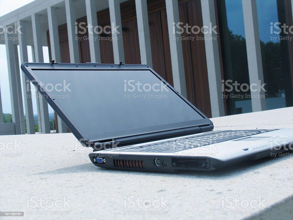 laptop at university royalty-free stock photo
