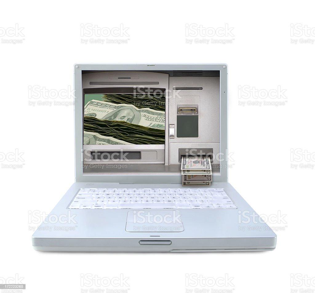Laptop ATM royalty-free stock photo