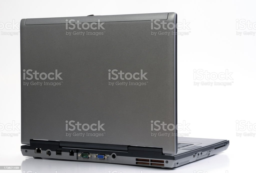 laptop back royalty-free stock photo