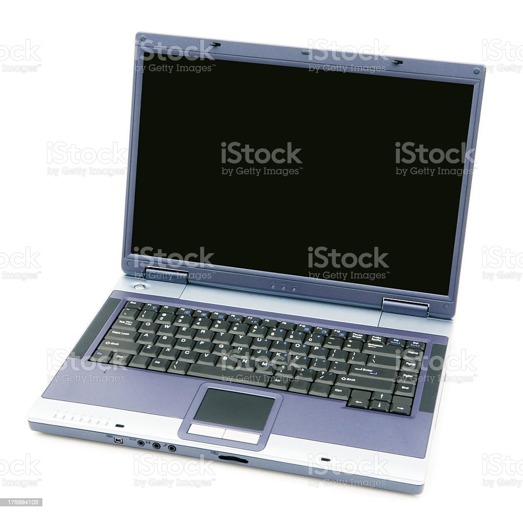 Laptop - Blank screen royalty-free stock photo