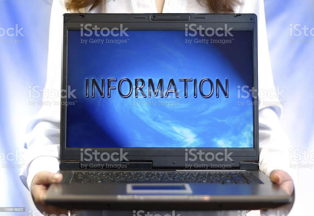 Laptop computer display frame background royalty-free stock photo