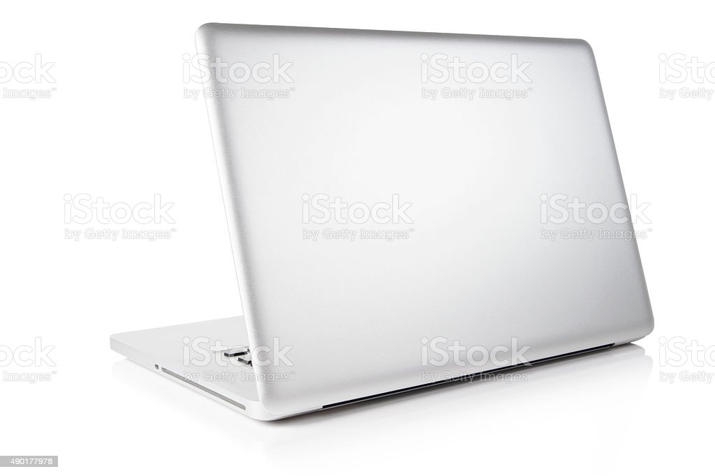 Laptop computer  isolated on white. Clipping path. stock photo
