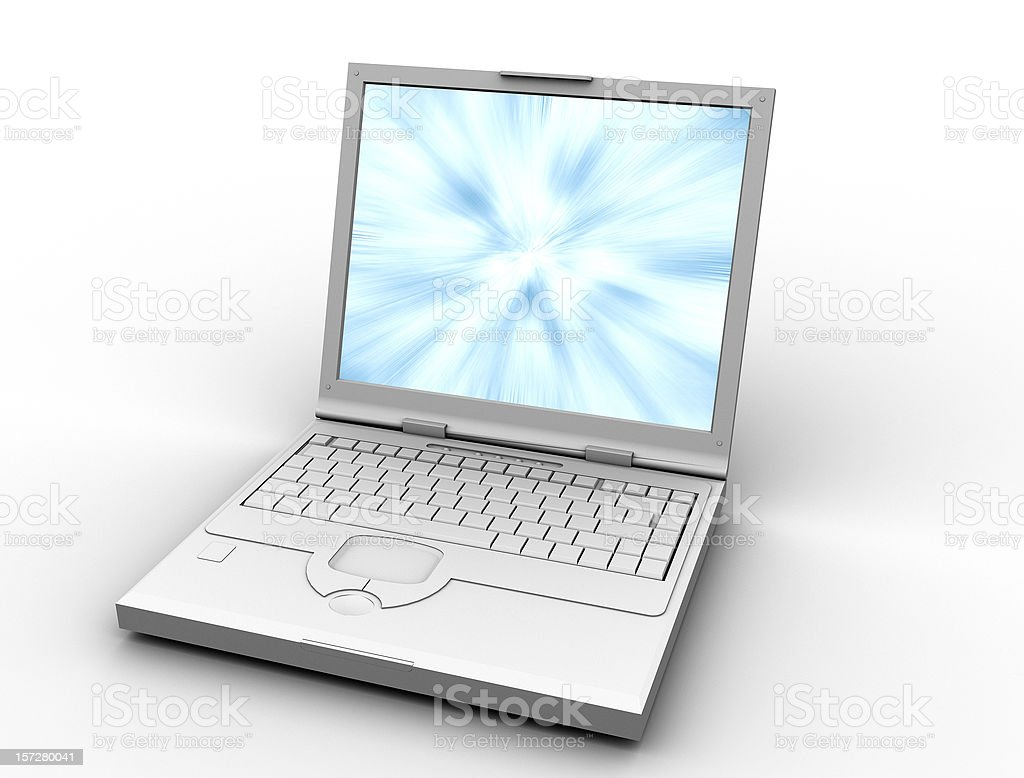 laptop - computer isolated on white royalty-free stock photo