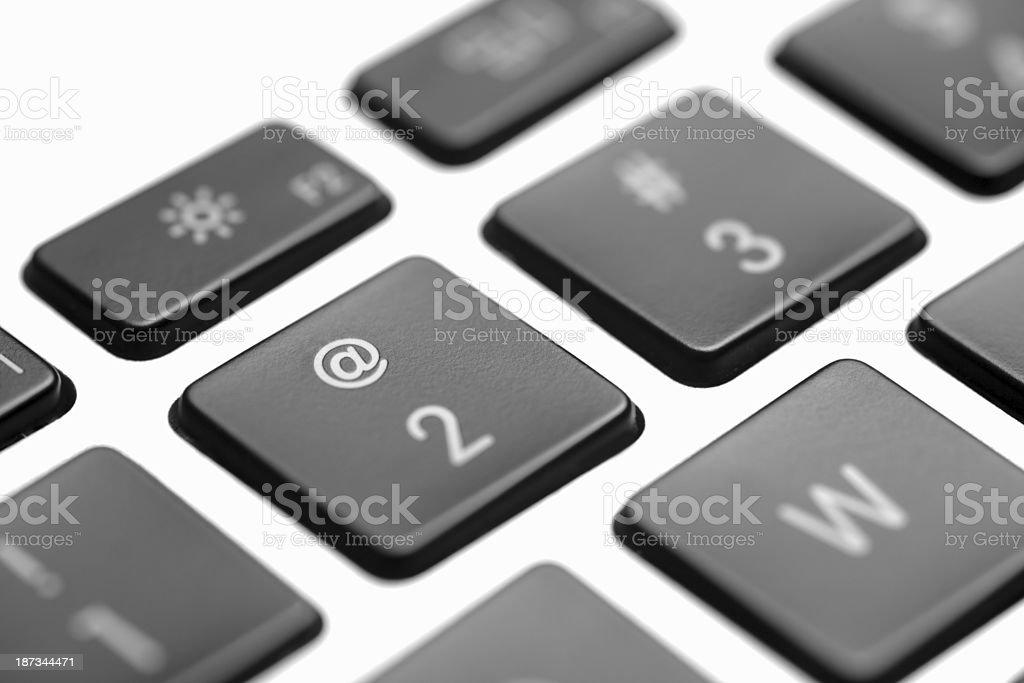 Laptop computer keyboard close-up royalty-free stock photo