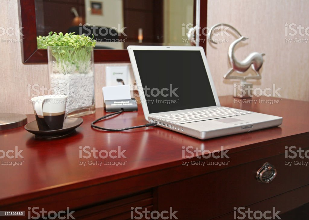 Laptop Computer On Table royalty-free stock photo