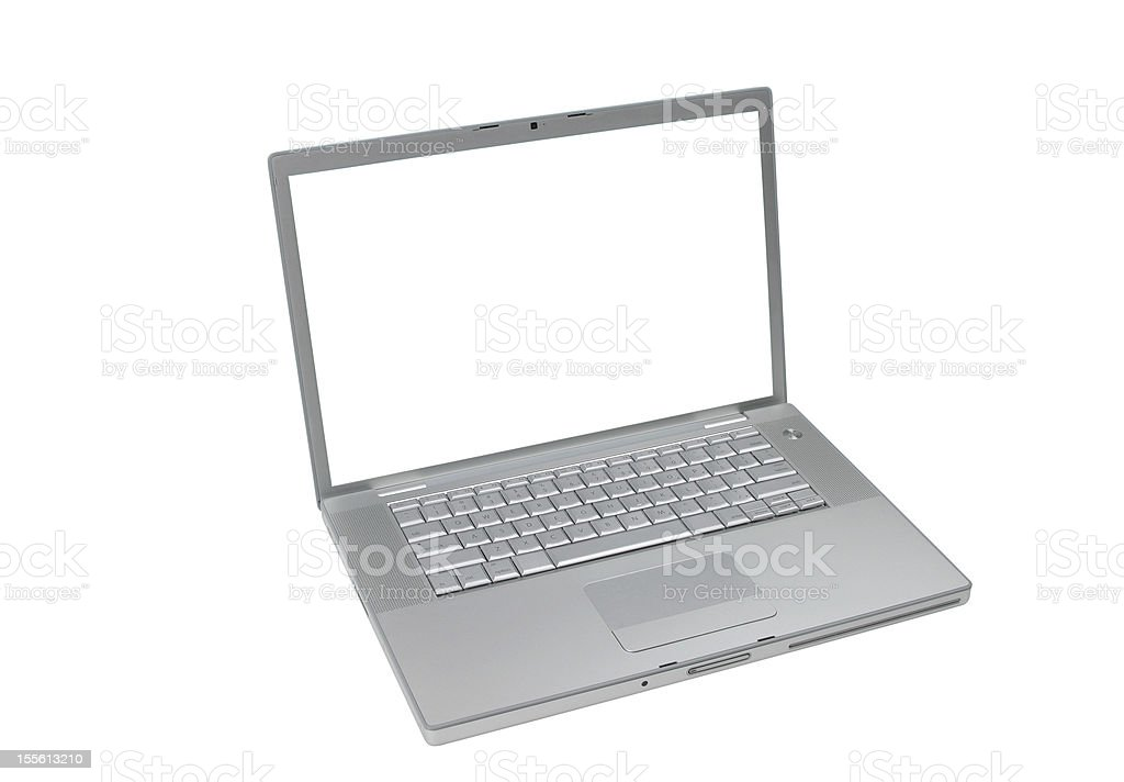 Laptop Computer Series ( CLIPPING PATH around & inside of screen!) royalty-free stock photo