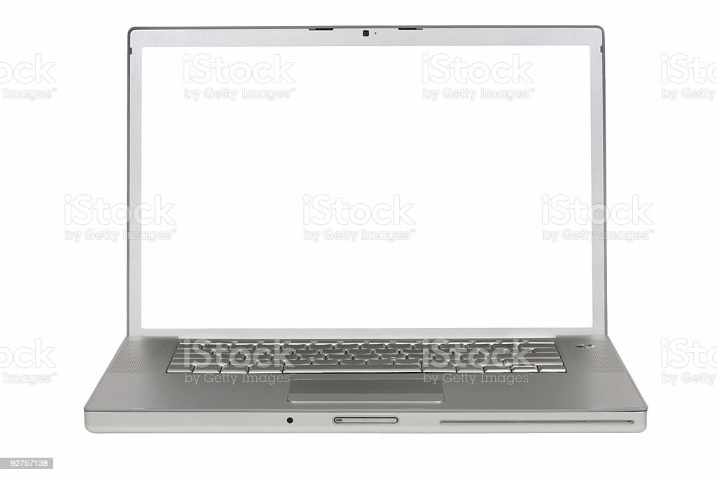 Laptop computer with clipping paths royalty-free stock photo