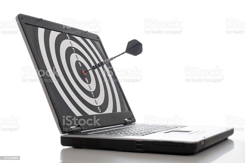 Laptop Dart stock photo