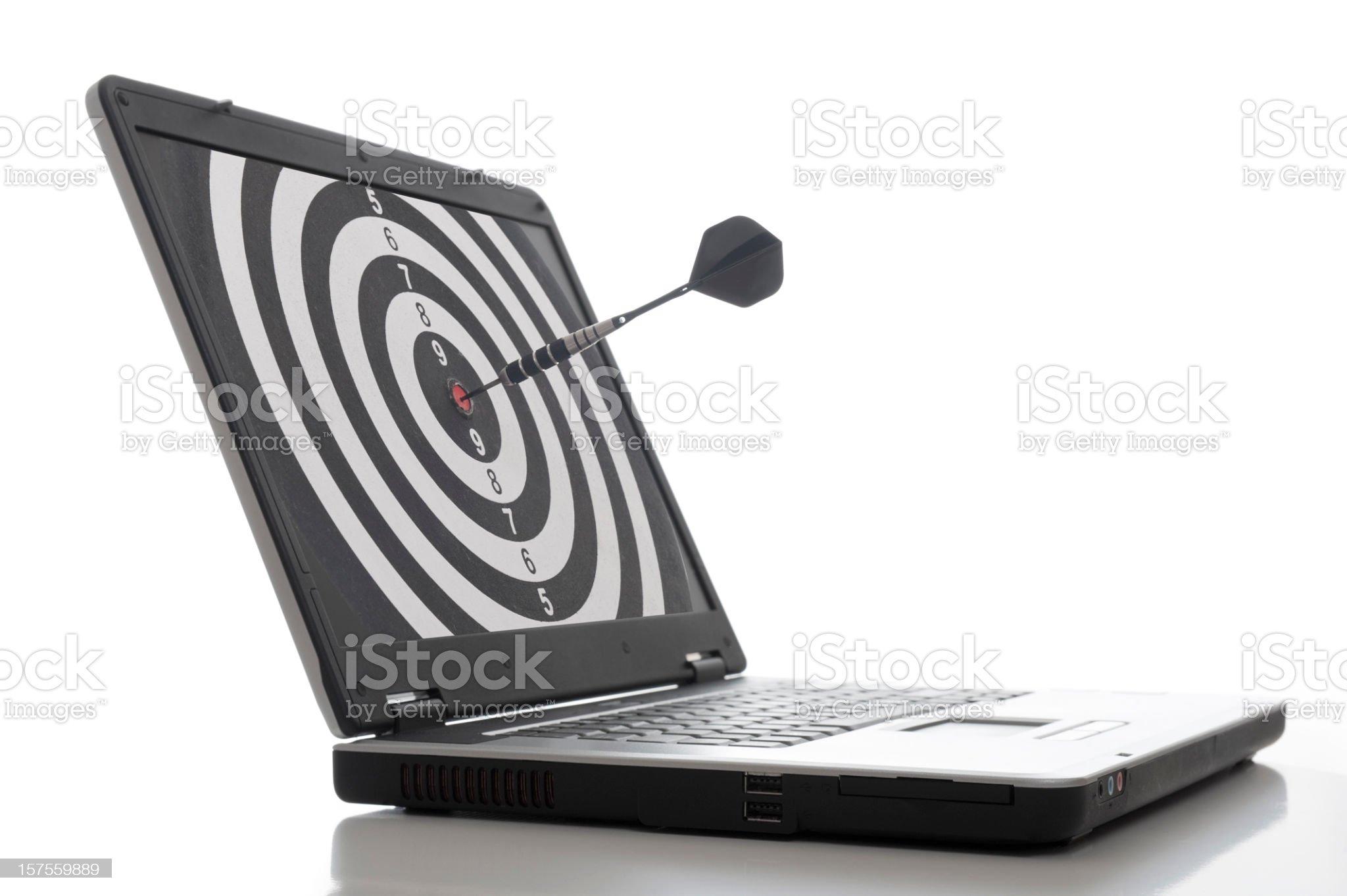 Laptop Dart royalty-free stock photo