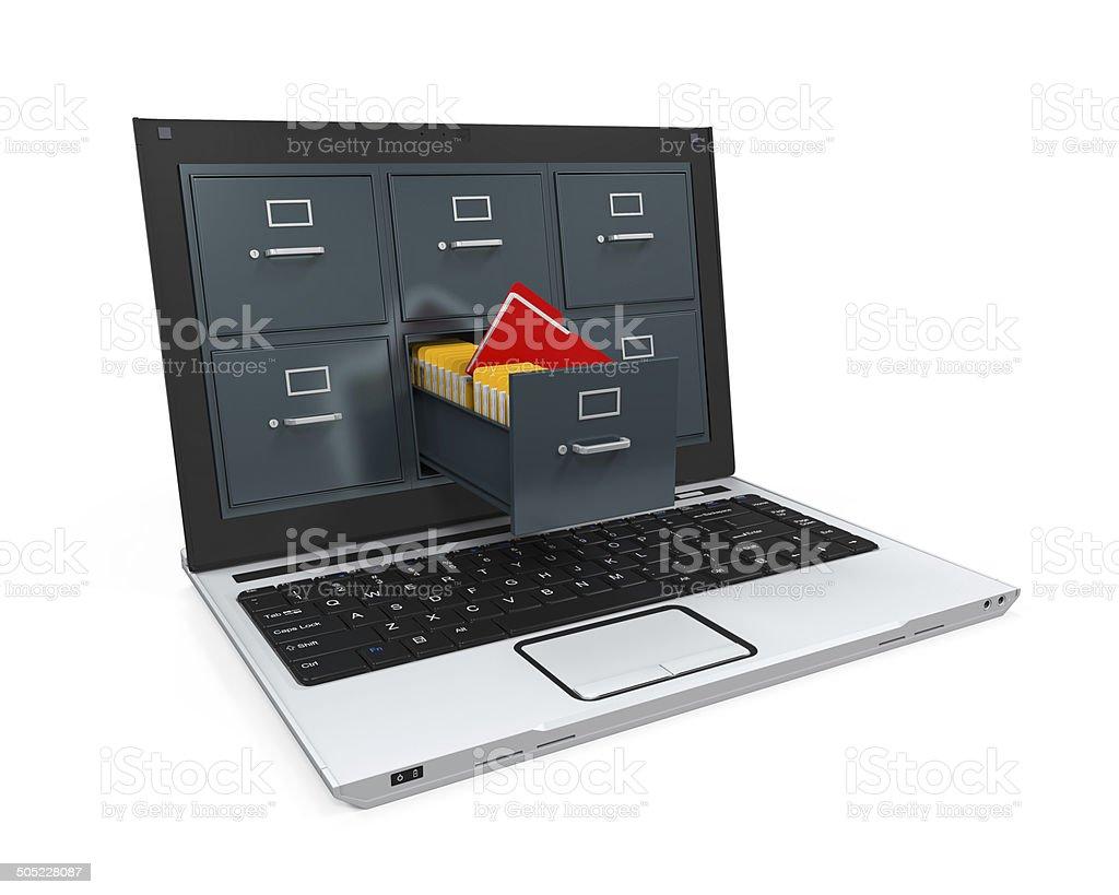 Laptop Data Storage stock photo