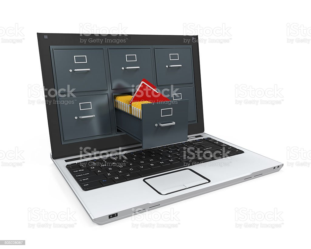 Laptop Data Storage stock photo
