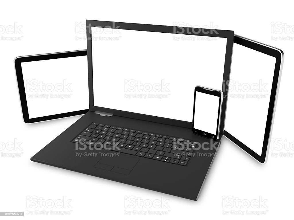 laptop digital tablet and smart phone royalty-free stock photo