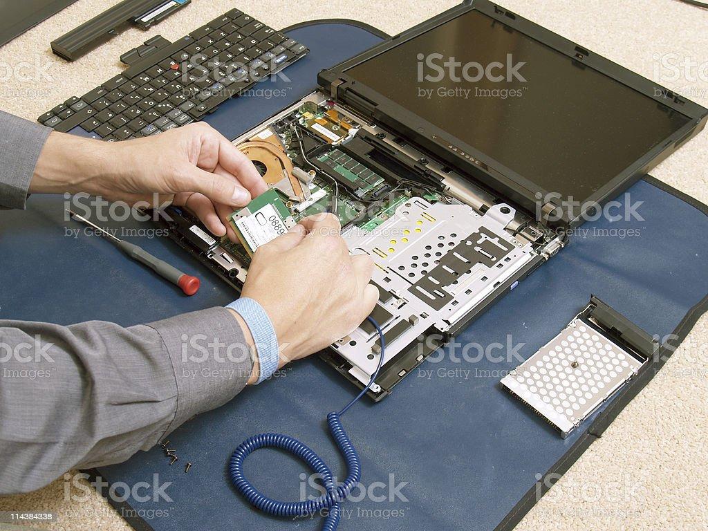 Laptop Disassembling stock photo