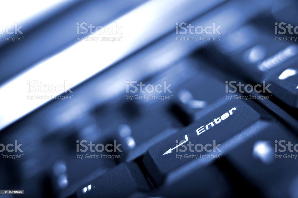 laptop enter key royalty-free stock photo