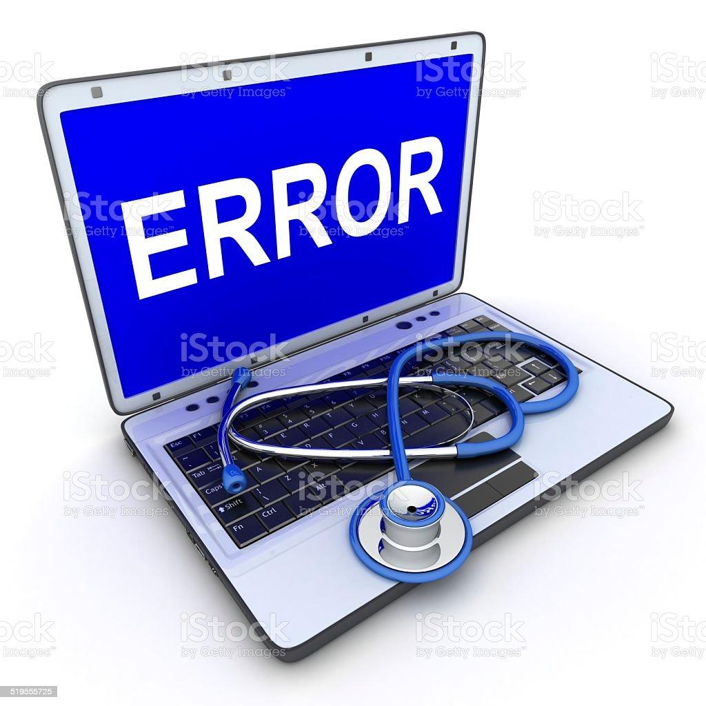 Laptop error stock photo