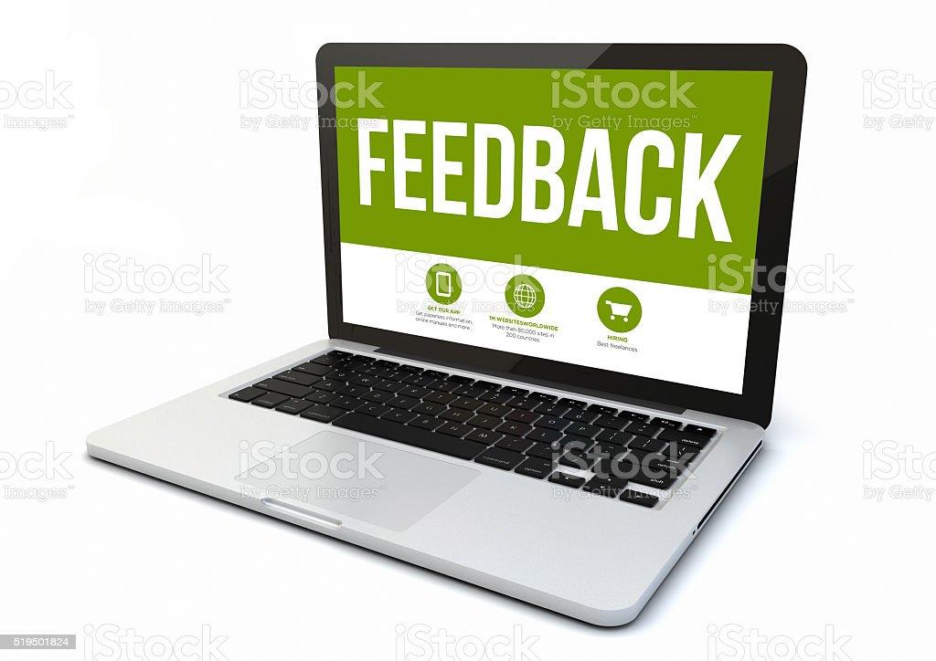 laptop feedback stock photo
