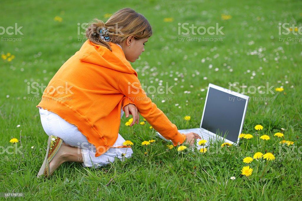 Laptop games royalty-free stock photo
