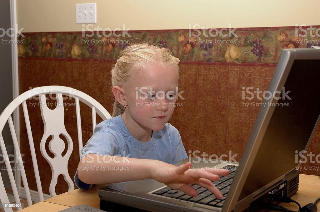 Laptop Girl royalty-free stock photo