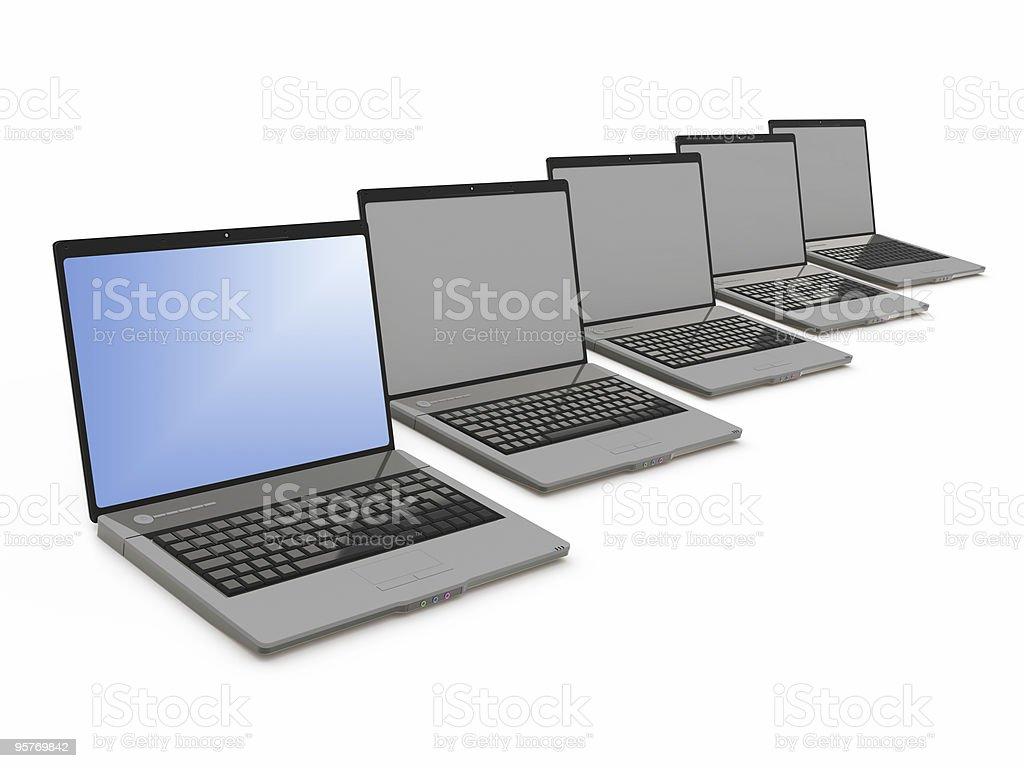 laptop group royalty-free stock photo