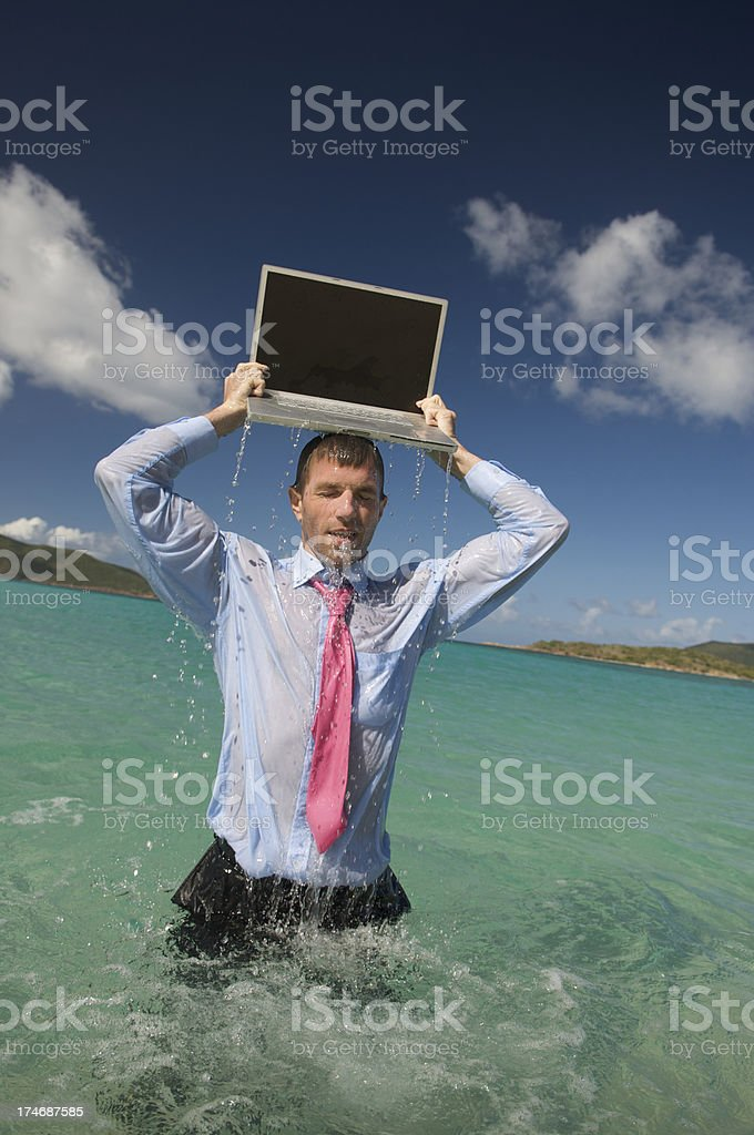 Laptop Headwaters royalty-free stock photo