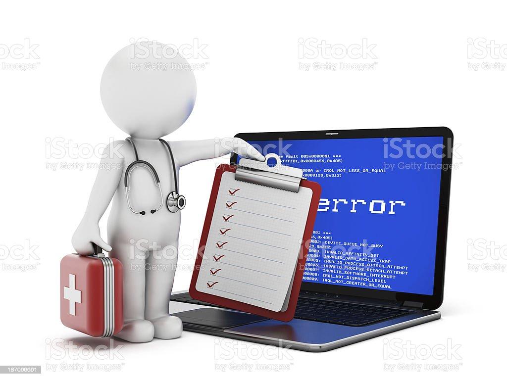 Laptop health royalty-free stock photo
