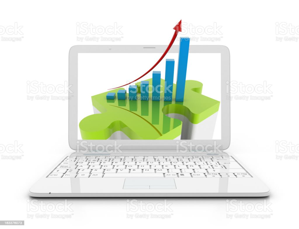 Laptop - Height chart royalty-free stock photo