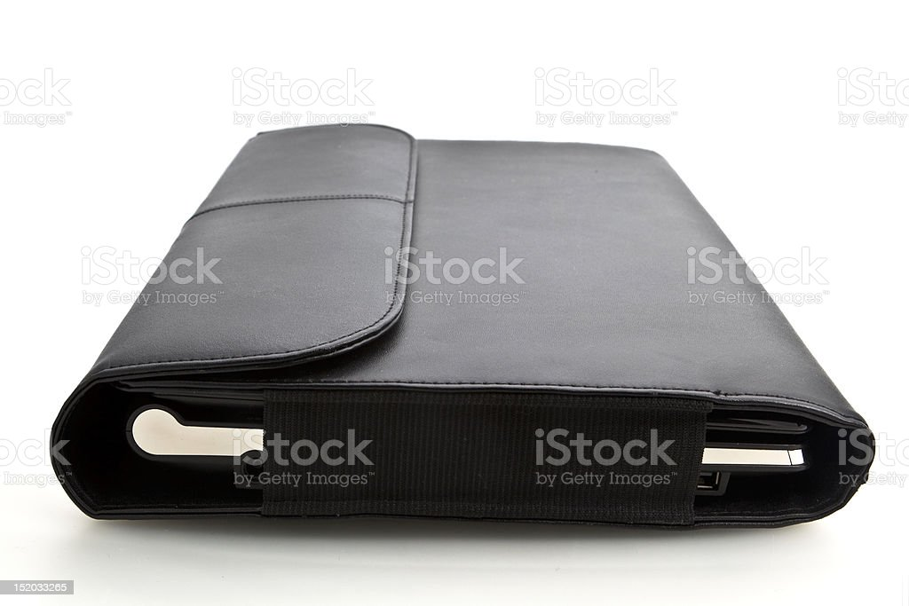 Laptop in case royalty-free stock photo