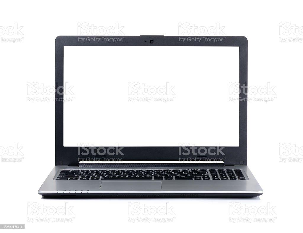 Laptop isolated on the white background stock photo