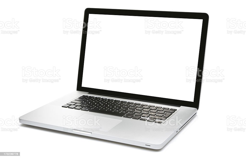 Laptop isolated on white royalty-free stock photo
