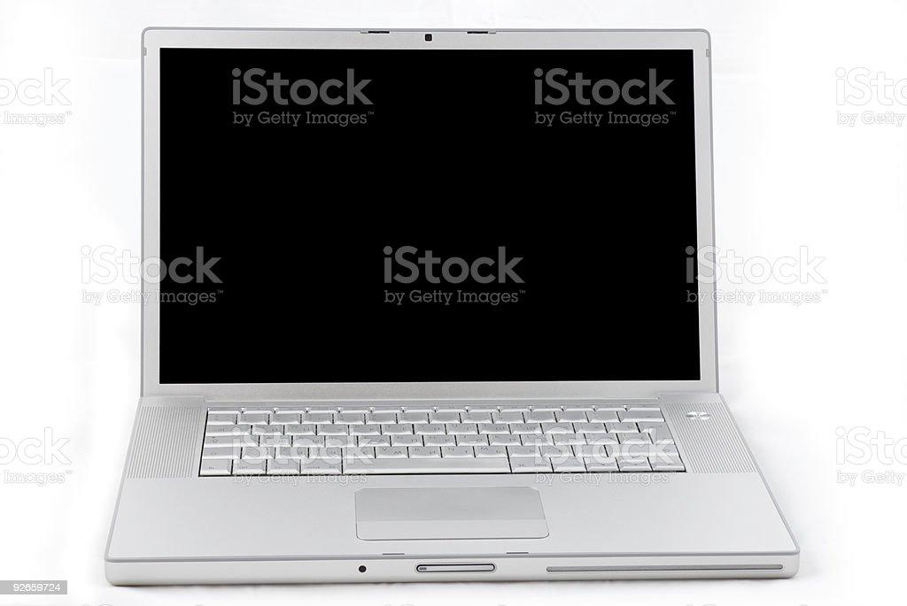Laptop isolated on white royalty-free stock photo