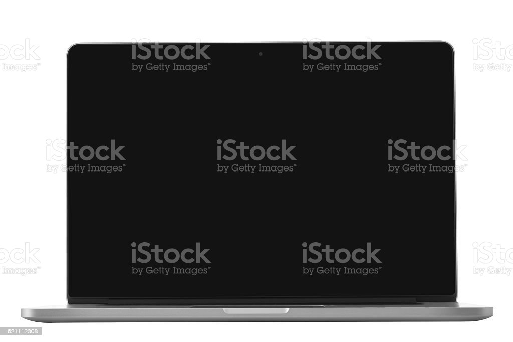 Laptop isolated on white with clipping path stock photo